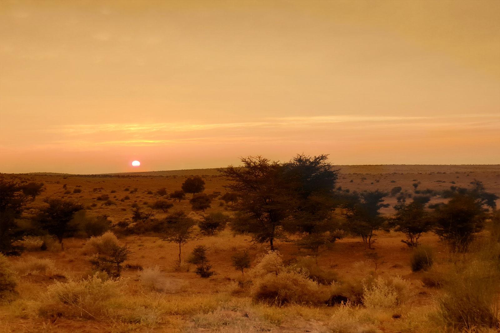 Sunset Near Fort