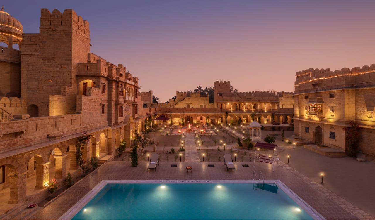 Evening Facade Pool